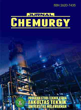Chemurgy is an open access journal published by Departement of Chemical Engineering, Engineering Faculty, University of Mulawarman